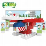 BiOBUDDi - Rescue Helicopter - Eco Friendly Block Set - 27 Blocks